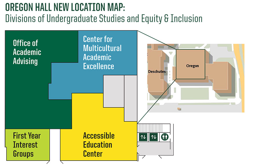Oregon Hall Move Map