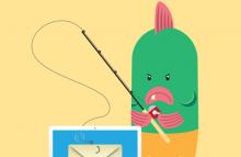 Phishing cartoon